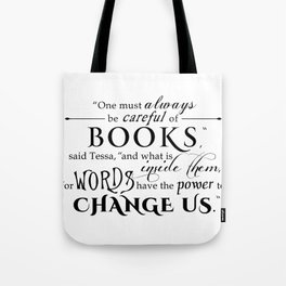 Words Have the Power to Change - Tessa (White) Tote Bag