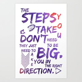 The Step You Tak Don't Need To Big - Jemma Simmons - Agents of SHIELD Art Print