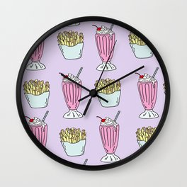Milkshake and Fries  Wall Clock