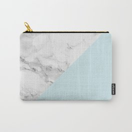 Marble + Pastel Blue Carry-All Pouch