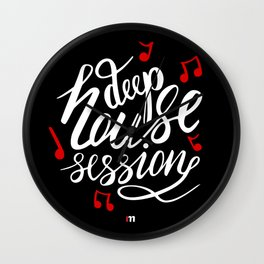 Deep House Session Wall Clock