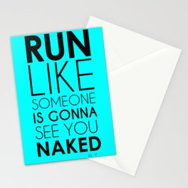Run Naked Stationery Cards