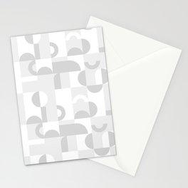 Gray Domio Mosaic (Landscape) Stationery Cards