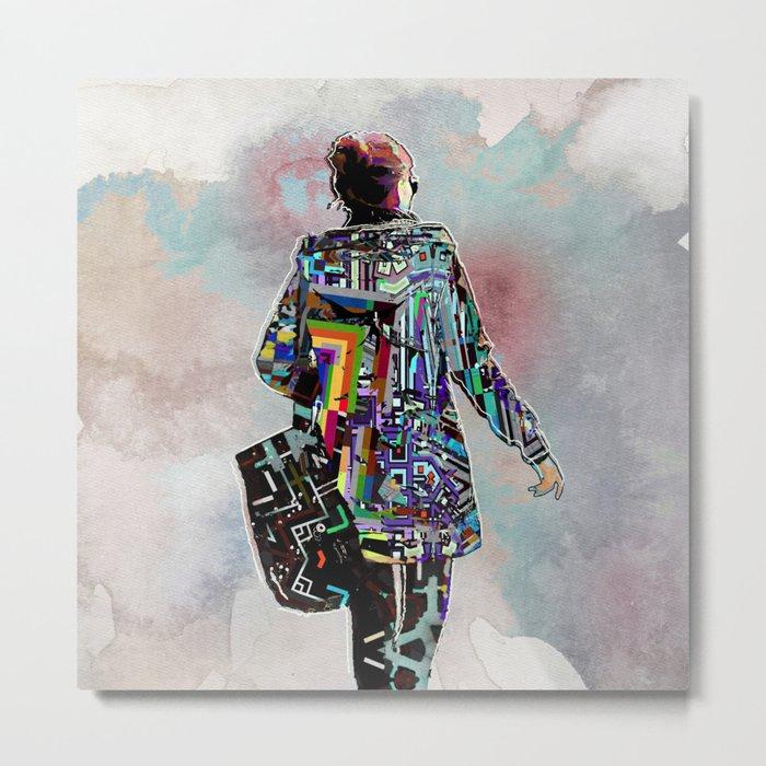 Woman walking Metal Print