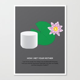 HIMYM Couples - Lily & Marshall Canvas Print