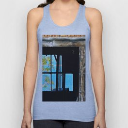 Looking Through the Barn Unisex Tank Top