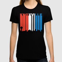 Red White And Blue Knoxville Tennessee Skyline T-shirt