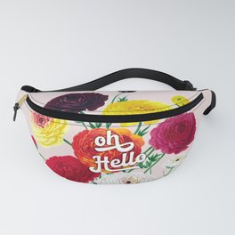 oh Hello vintage spring flowers Fanny Pack
