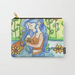 Sunflower Mermaid Carry-All Pouch