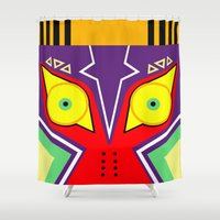majora Shower Curtains featuring MAJORA by pipocaVFX