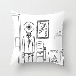 N(i)ne to Five Throw Pillow