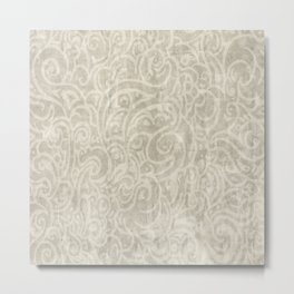 Billowing - Aged Ivory Metal Print