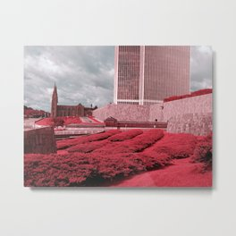 Infrared city Metal Print
