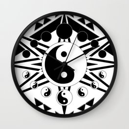 Yin Yang Orbit (2) Wall Clock