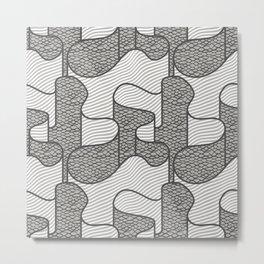 Ribbon in Charcoal Metal Print
