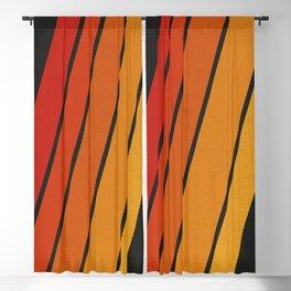 Retro 70s Stripes Blackout Curtain
