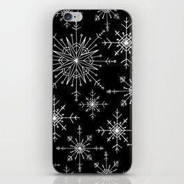Winter Wonderland Snowflakes Black and White iPhone Skin