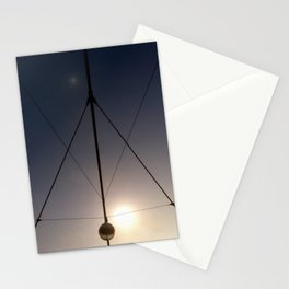 triangled lights Stationery Cards
