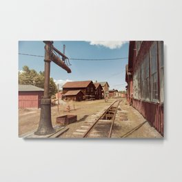 Siding Leading to Roundhouse Past Machine Shop East Broad Top Pennsylvania Metal Print