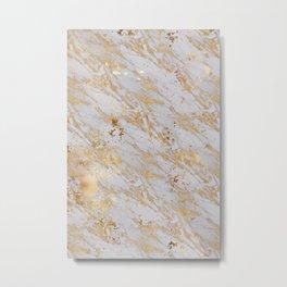 Marble Gold 1 Metal Print