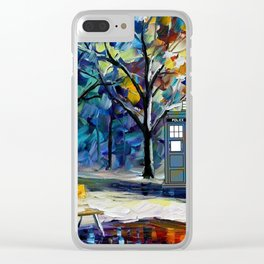 tardis lounge chair Clear iPhone Case