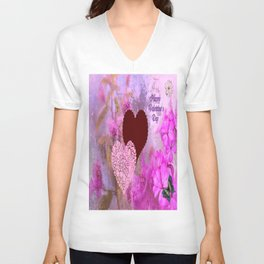 Happy Valentine`s Day Unisex V-Neck