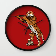 The Hunted becomes the Hunter Wall Clock