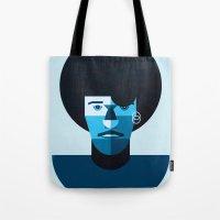 phil jones Tote Bags featuring Phil Lynott by rubenmontero