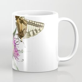 Scarce Swallowtail Butterfly Resting On Thistle Flower Coffee Mug