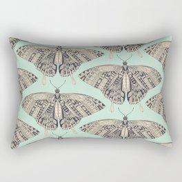 swallowtail butterfly mint basalt Rectangular Pillow