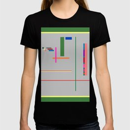 A Few Colors with Lines and Rectangles and Squares T-shirt