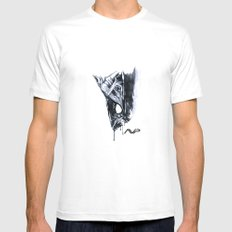 Alien Head Side Mens Fitted Tee MEDIUM White