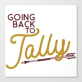 Going back to Tally Canvas Print