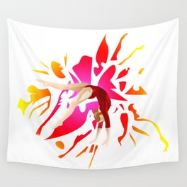 Power of Gymnastics Wall Tapestry