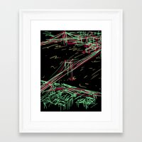 brooklyn Framed Art Prints featuring brooklyn by barmalisiRTB