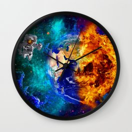 GLOBAL WARMING Wall Clock