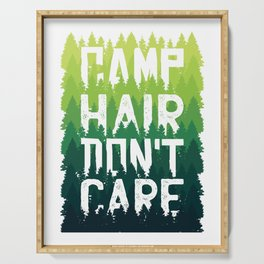 Camp Hair Don't Care Serving Tray
