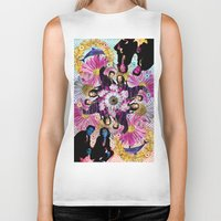 holographic Biker Tanks featuring alien hunters from the flower planet by STORMYMADE