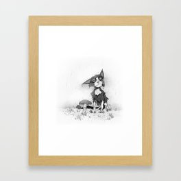 Wet cat Framed Art Print