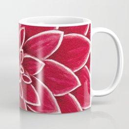 Red Dahlia close up watercolor christmas design Coffee Mug