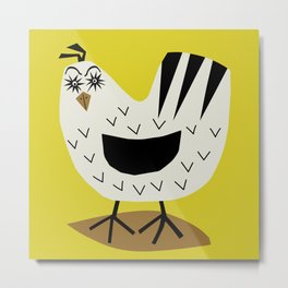 Fowl Mood Metal Print
