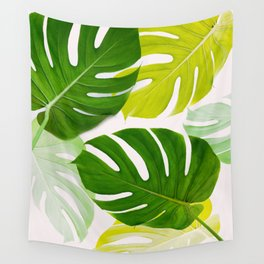 Colorful Monstera Wall Tapestry