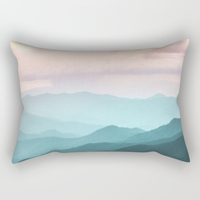 Smoky Mountain National Park Sunset Layers II - Nature Photography Rectangular Pillow