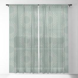 Minimalist Sunray Pattern XVIII Sheer Curtain