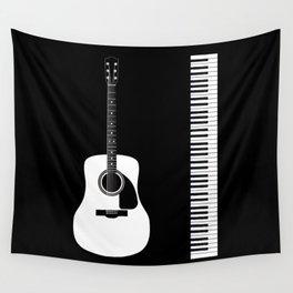 Guitar Piano Duo Wall Tapestry
