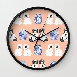 Staffordshire Dogs + Ginger Jars No. 5 Wall Clock