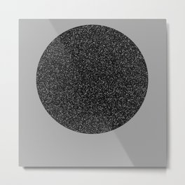 Big Ball in Black and White Metal Print