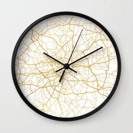 LONDON ENGLAND CITY STREET MAP ART Wall Clock