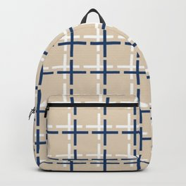 Navy and tan Cross Backpack