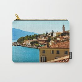 Limone Sul Garda Lake Garda Italy photo painting  Carry-All Pouch